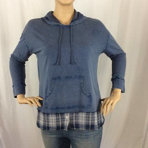 Style & Co Hooded Lounge Long Sleeve Shirt 199D